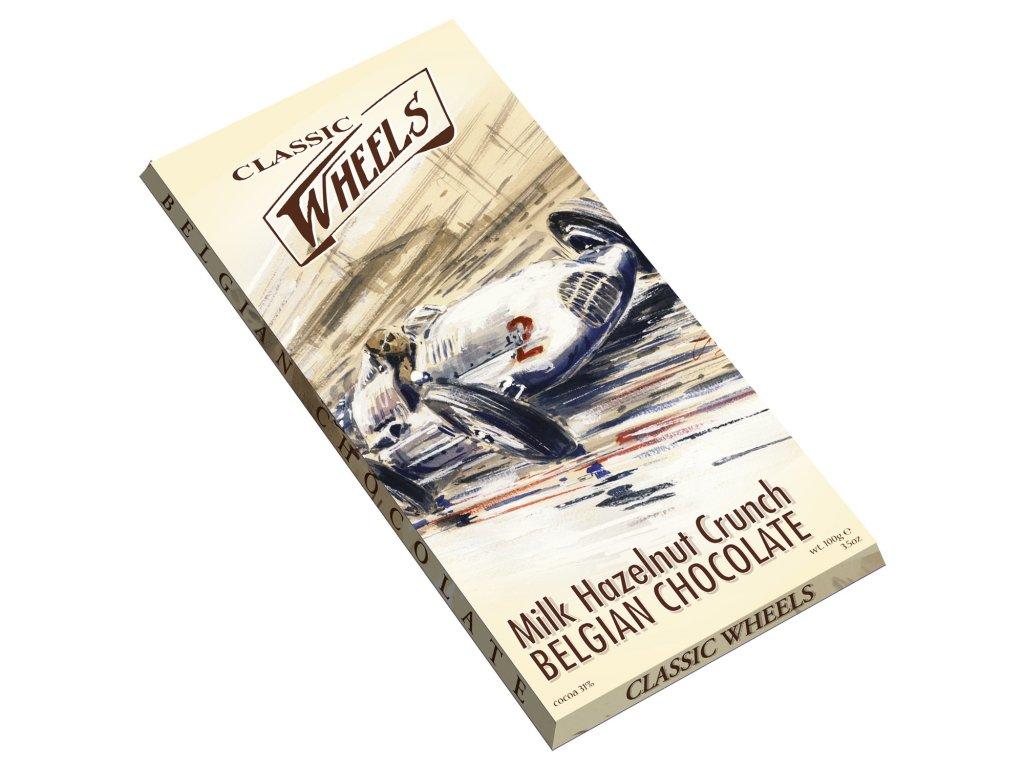 WH03 Mléčná čokoláda s lískovými ořechy Wheels 100g