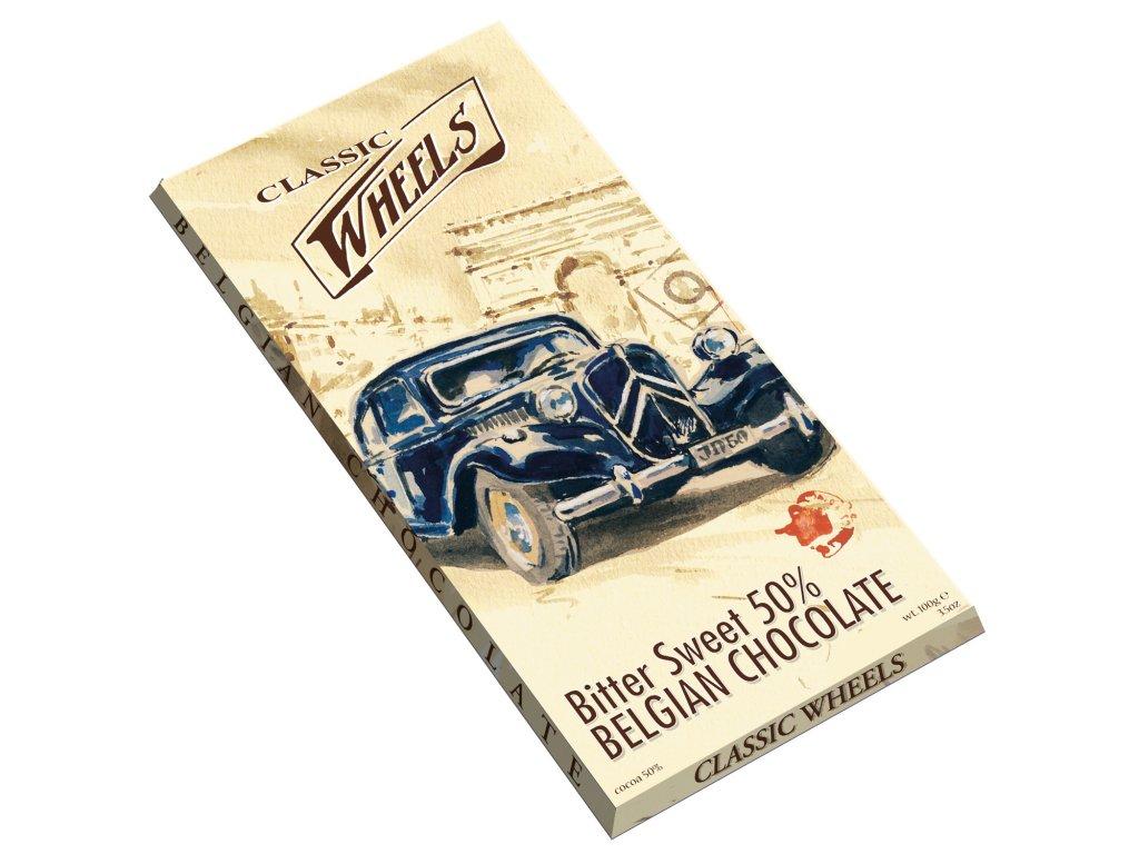 WH02 Hořko sladká čokoláda Wheels 100g