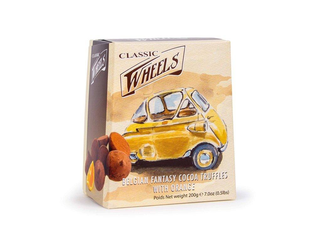 Wheels čokoládové lanýže s pomerančem 200g