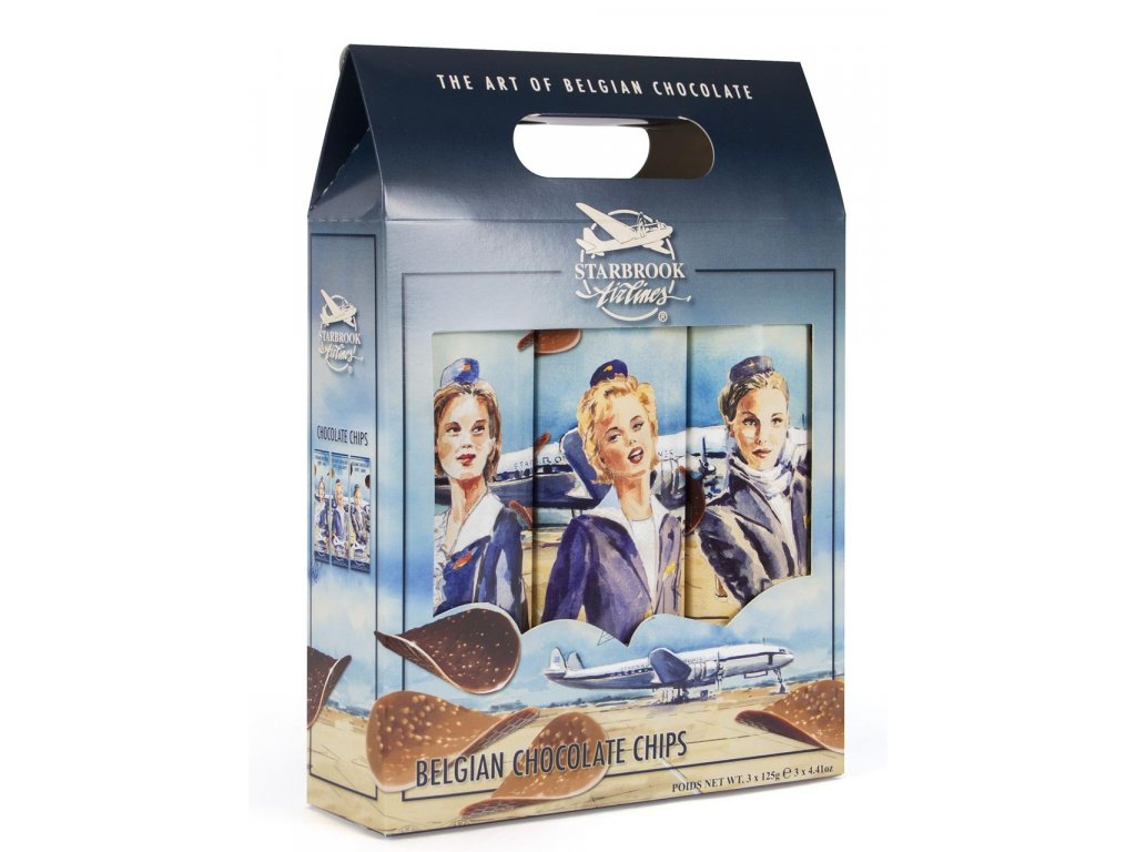 ST19 Dárkové trio čokoládových chipsů Starbrook Airlines 3x125g