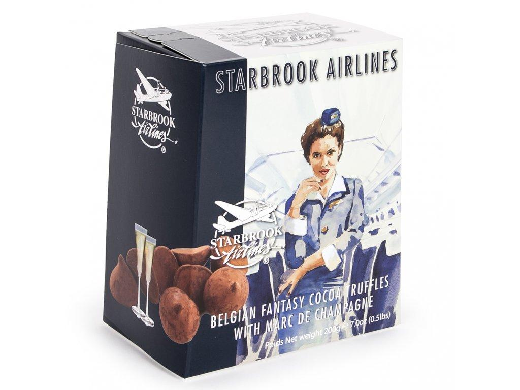 ST21 Čokoládové lanýže s příchutí Marc de Champagne Starbrook Airlines 200g