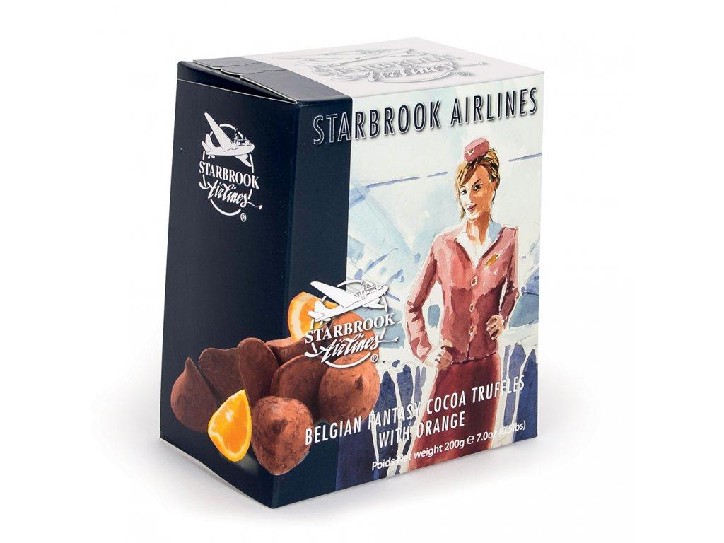 ST22 Čokoládové lanýže s příchutí pomerančů Starbrook Airlines 200g