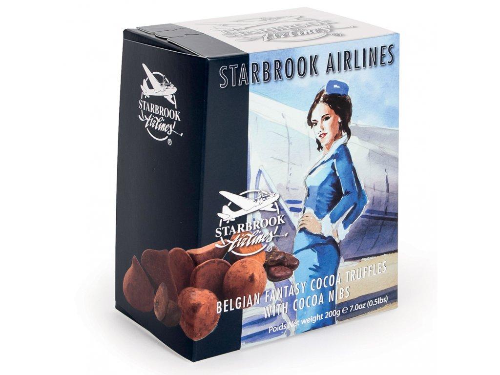 ST23 Čokoládové lanýže s kousky kakaových bobů Starbrook Airlines 200g