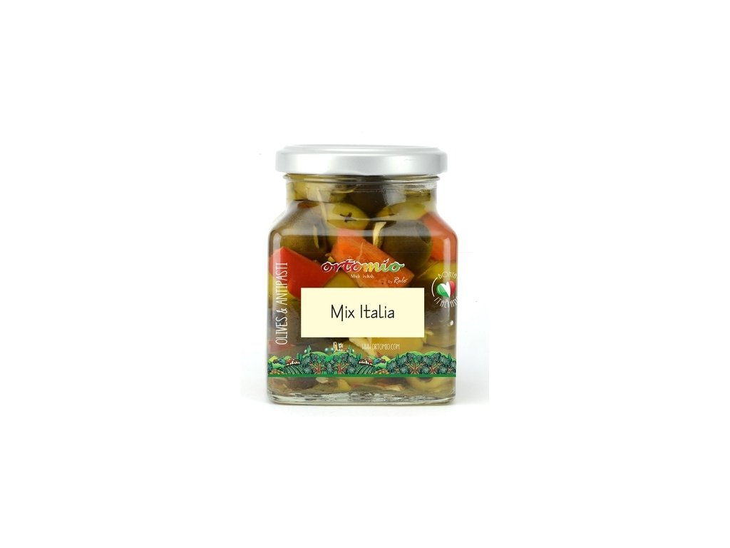OR02 Marinované olivy MIX Italia Ortomio 180g
