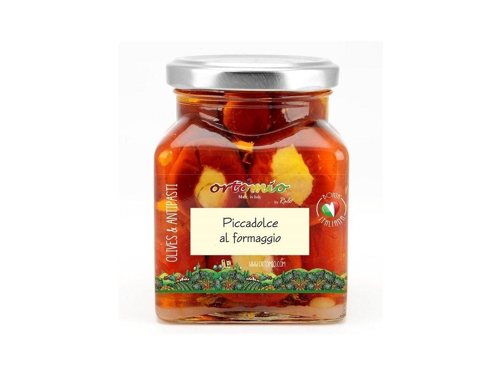 OR05 Piccadolce cherry papričky plněné krémem pecorino Ortomio 180g