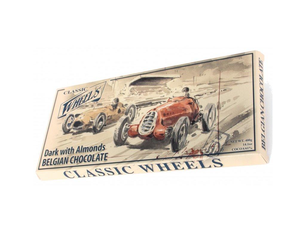 WH18 Hořká čokoláda s mandlemi Wheels 400g