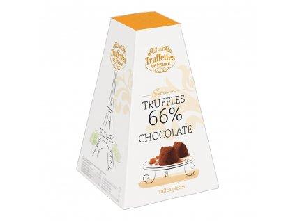 CH09 Francouzské čokoládové lanýže s kousky karamelu Supréme 66 % Truffettes de France Chocmod 200g