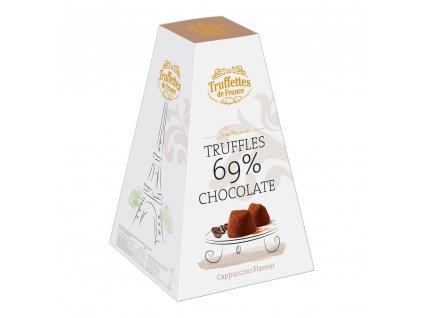 CH06 Francouzské čokoládové lanýže s příchutí cappuccino Supréme 69 % Truffettes de France Chocmod 200g