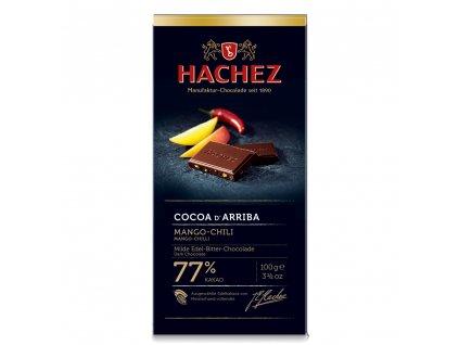 HA07 Hořká čokoláda Cocoa d´Arriba s mangem a čili Hachez 100g