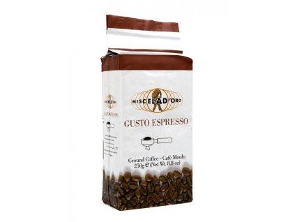 MIO08 Mletá káva Gusto Espresso Miscela D´Oro 250g