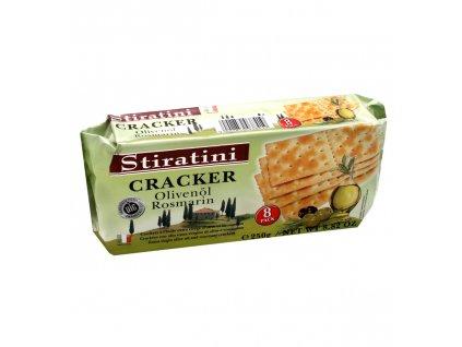 SR01 Krekery s olivovým olejem a rozmarýnem Stiratini 250g