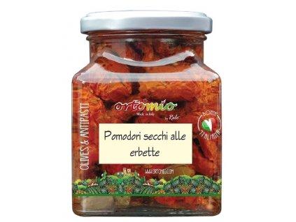 OR03 Sušená rajčata marinovaná s bylinkami Ortomio 180g