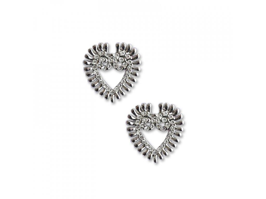 delishka petra toth nausnice silver kristal 3