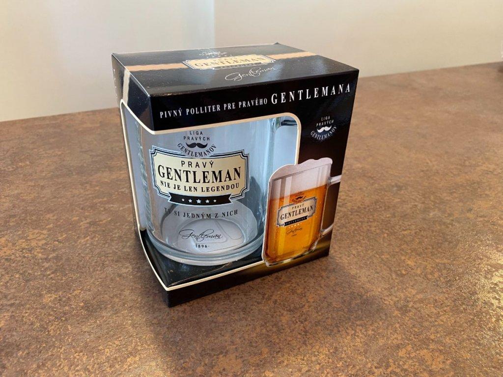 Pivový pohár Pravý gentleman nie je legendou