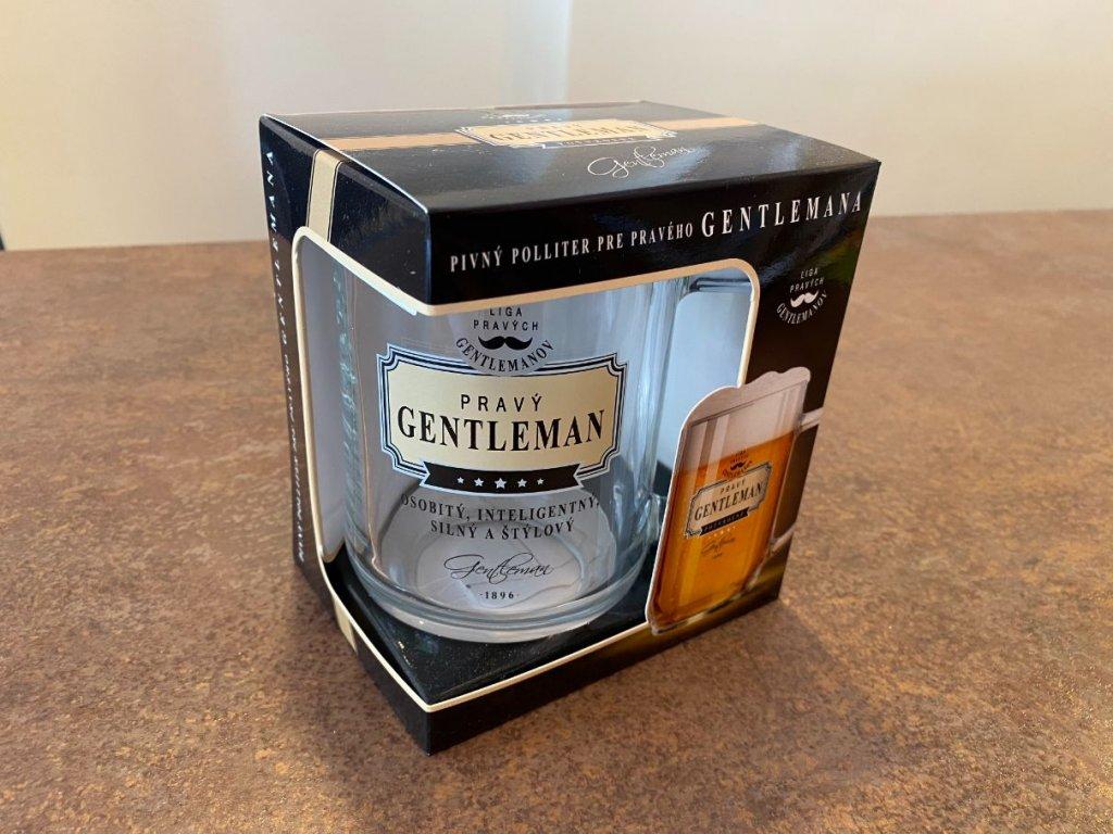 Pivový pohár Pravý gentleman
