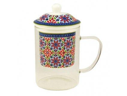 delishka tea mandala sklo porcelan