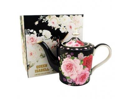delishka tea cajnik black rose