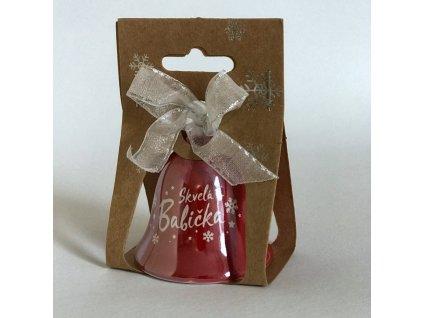 Vianočný zvonček s venovaním červený
