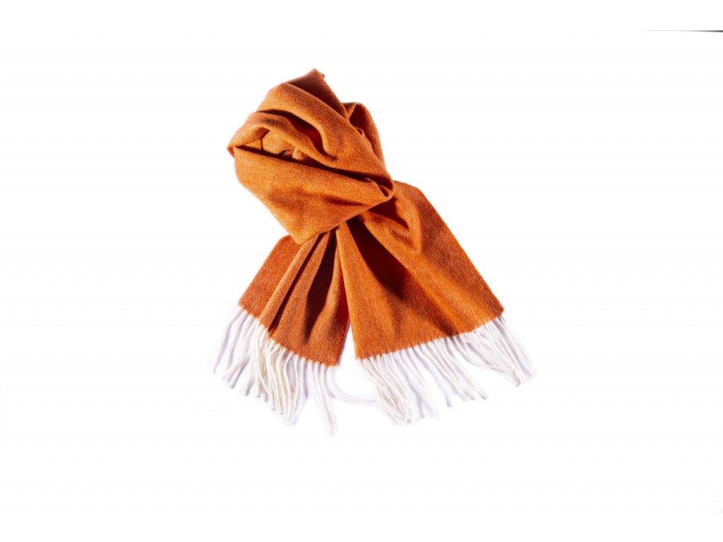 Šála Delor, vlna & kašmír, oranžová