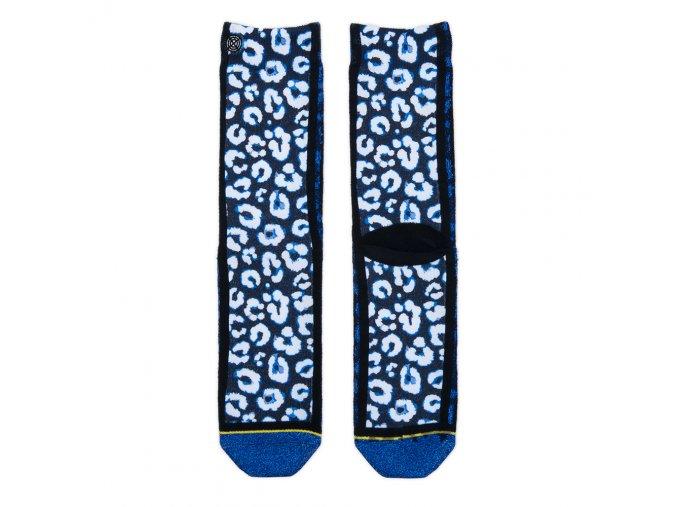 Dámske ponožky XPOOOS Blue Leopard 70131
