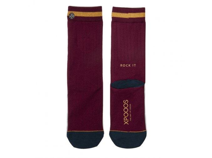 Dámske ponožky XPOOOS Essential Bordové