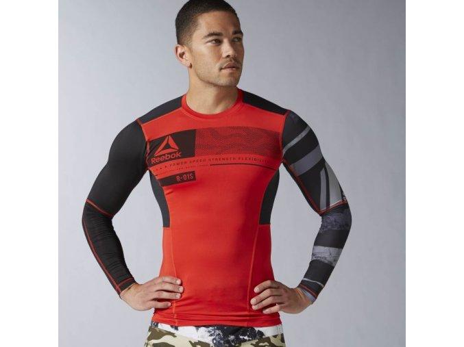 Reebok CrossFit® Pánske kompresné tričko dlhé AX9469