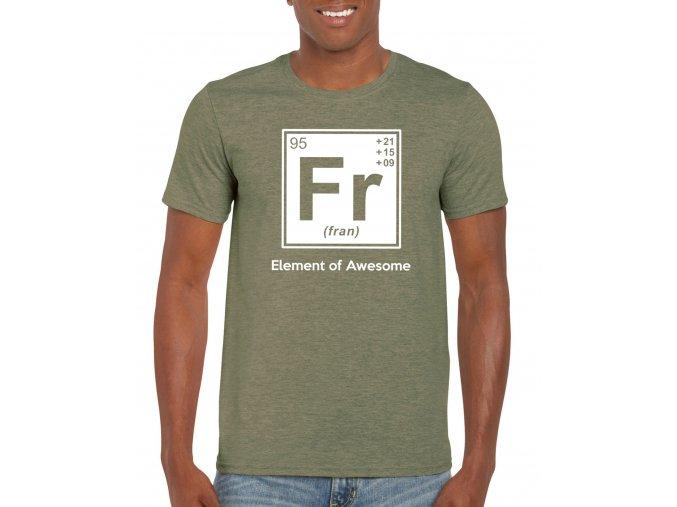 Pánske tričko DeltaFit Fran military green