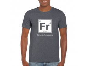 Pánske tričko DeltaFit Fran dark heather