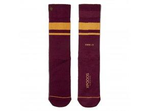 Pánske ponožky XPOOOS Essential Red/Yel