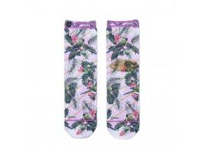 Dámske ponožky XPOOOS  JungleParrots  71010