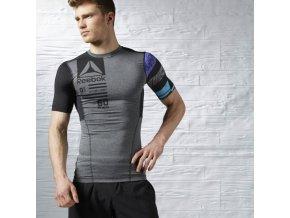 Reebok CrossFit® Pánske kompresné tričko AX9466