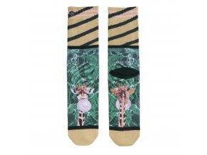 Dámske ponožky XPOOOS Teddy marble 70152