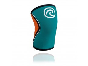 105313 01 rx knee sleeve 5mm tealorange front hr 4