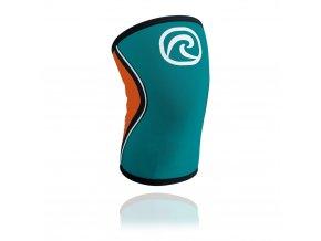 105313 01 rx knee sleeve 5mm tealorange front hr 4