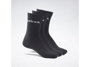 Active Core Crew Socks 3 Pairs Black GH0331 02 standard