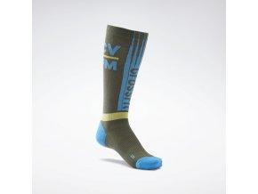 CrossFit(r) Printed Crew Socks Green GH1547 02 standard