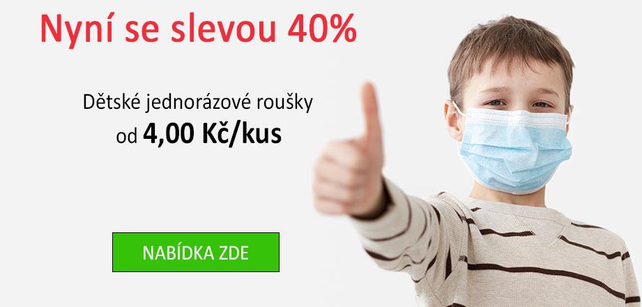 Kvalitní Dětská rouška modrá - 50 ks VYPRODEJ