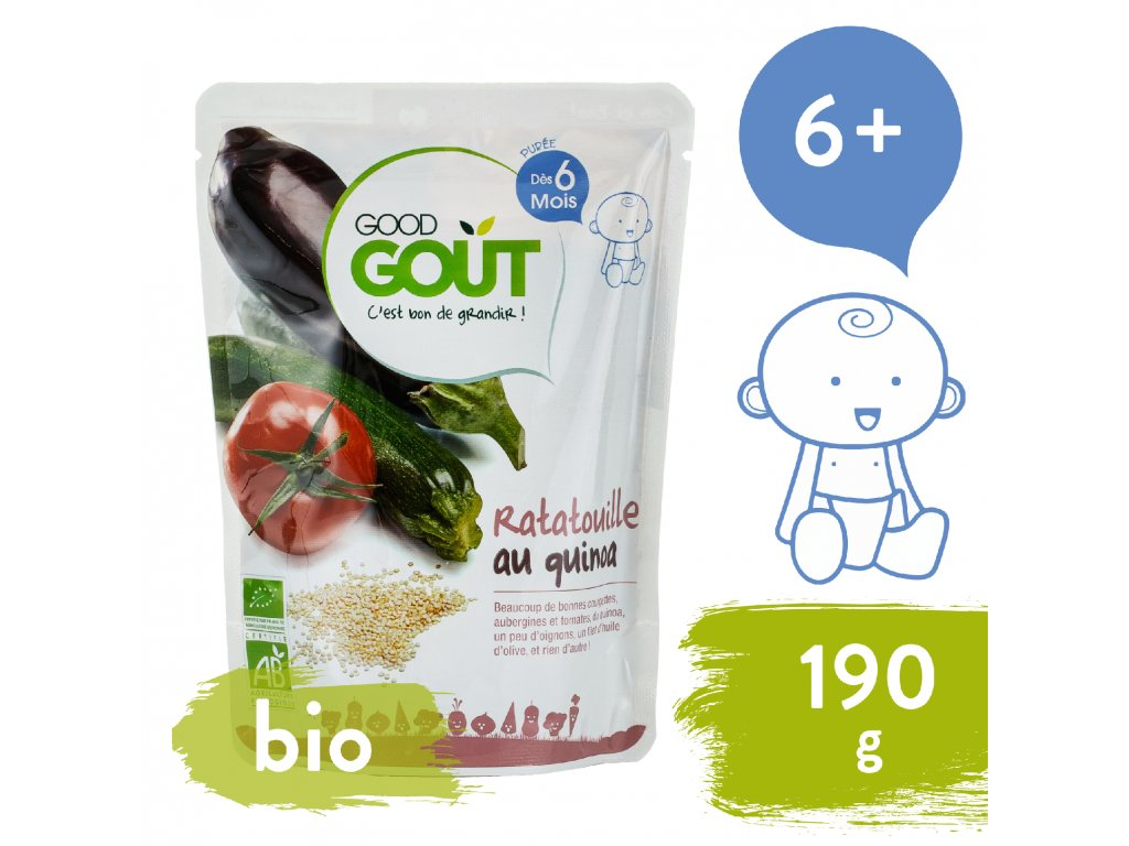 Good Gout BIO Ratatouille s quinoou 190 g