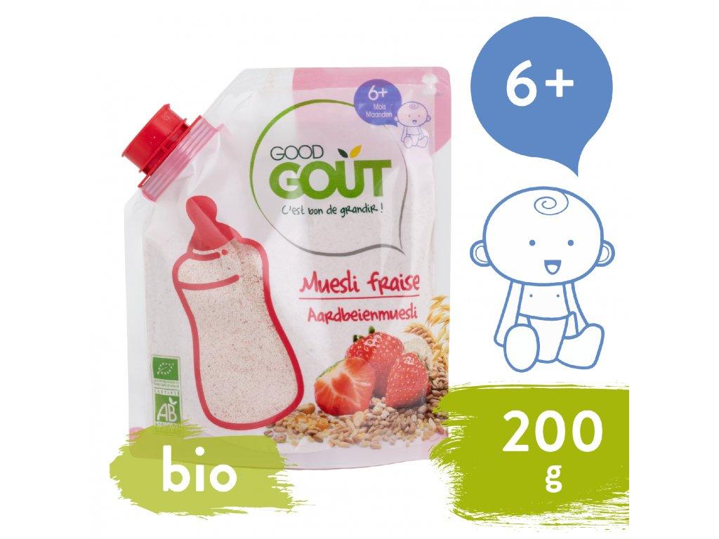 Good Gout BIO Dětská jahodová instantní kaše v prášku 200 g