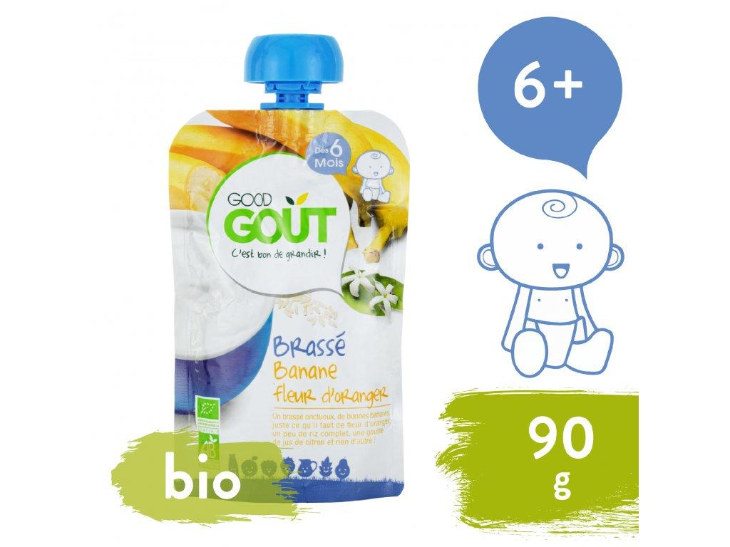 Good Gout BIO Banánový jogurt s pomerančovým květem 90 g
