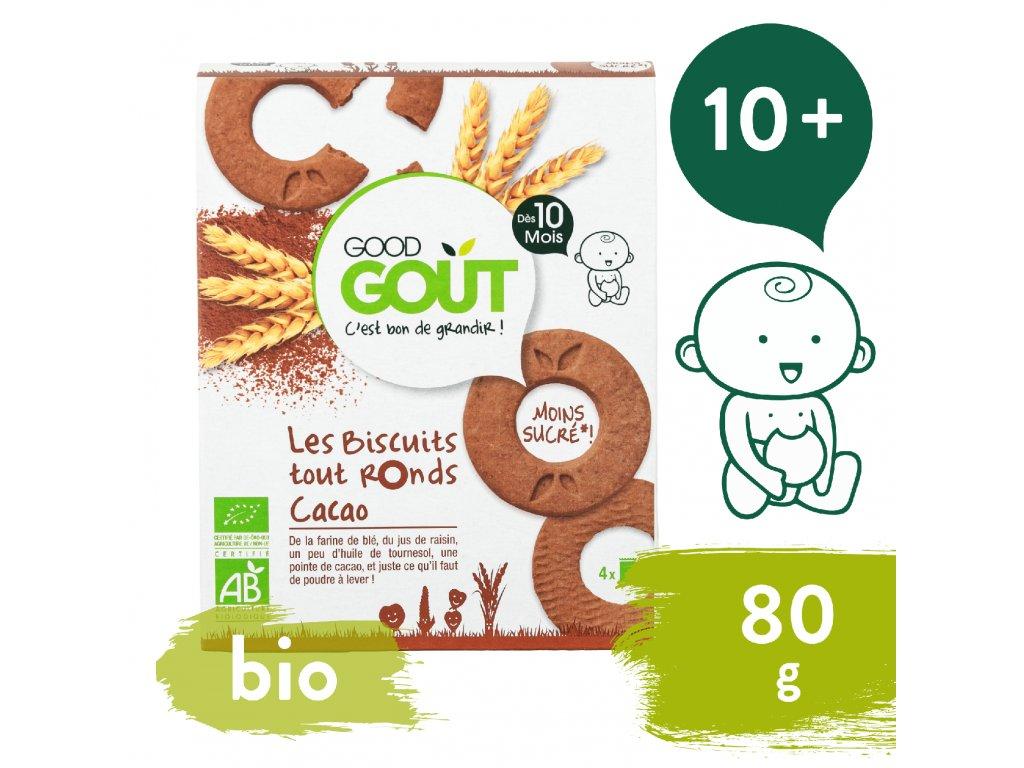 Good Gout BIO Kakaová kolečka 80 g