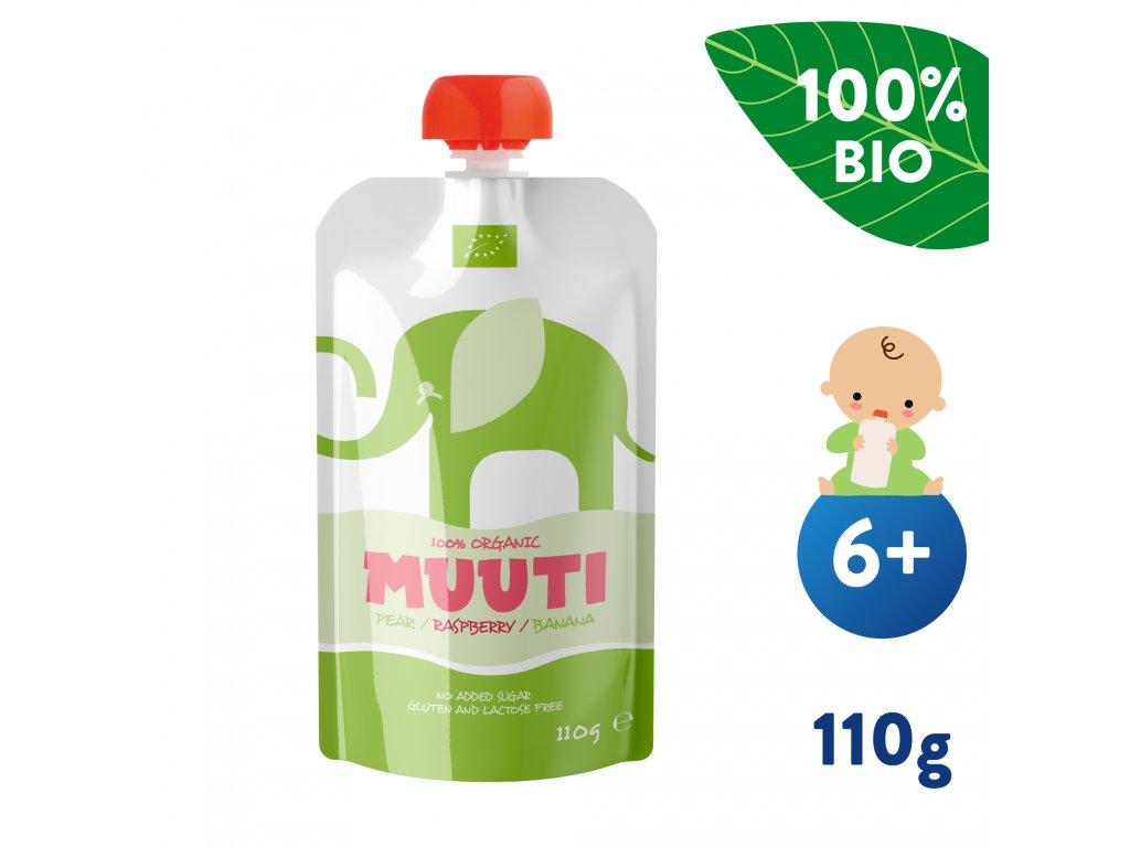 SALVEST Muuti BIO Hruška a banán s malinou 110 g