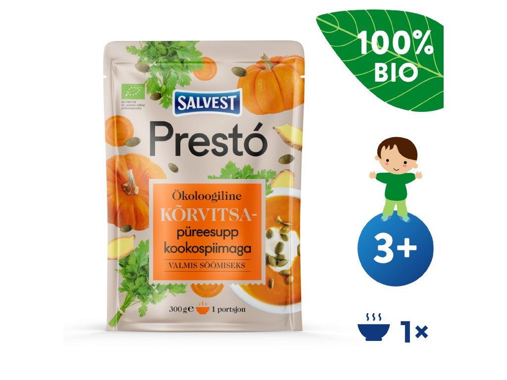 SALVEST Prestó BIO Dýňová polévka s kokosovým mlékem 300 g