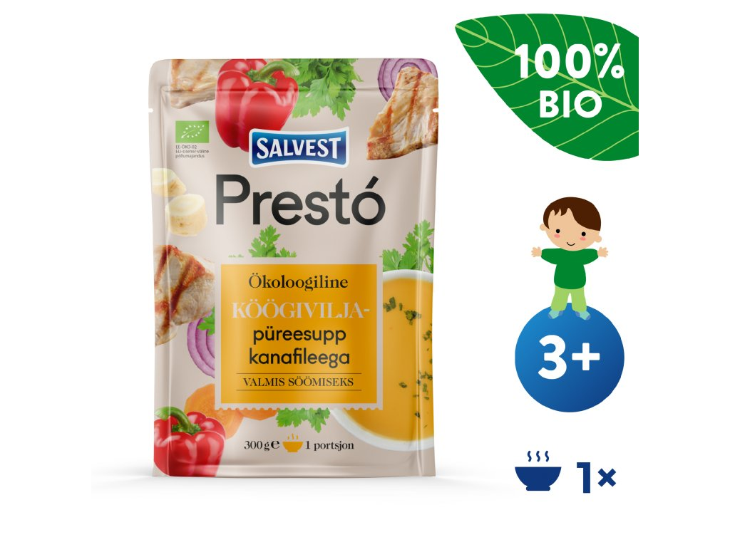 SALVEST Prestó BIO Polévka z kuřecích prsíček a zeleniny 300 g