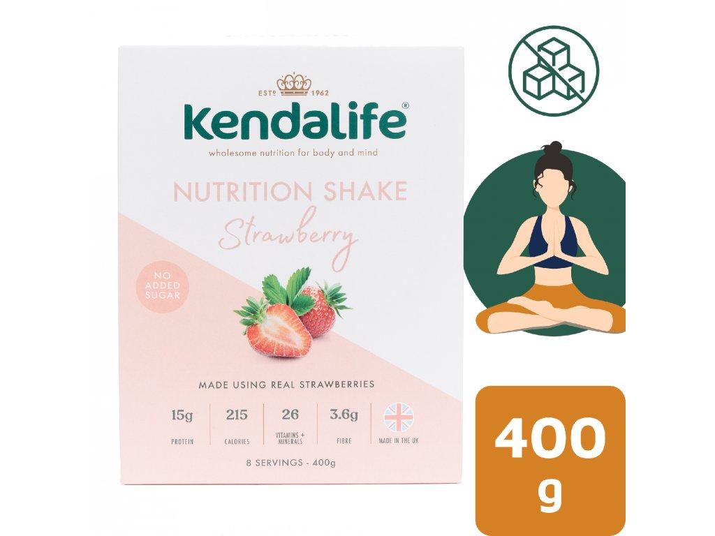 Kendalife proteinový nápoj jahoda 400 g
