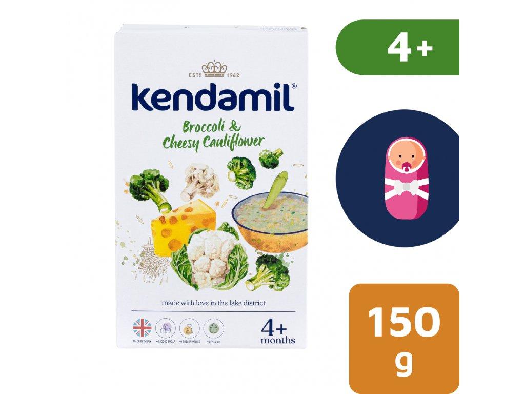Kendamil Jemná bezlepková kaše s brokolicí, květákem a sýrem 150 g
