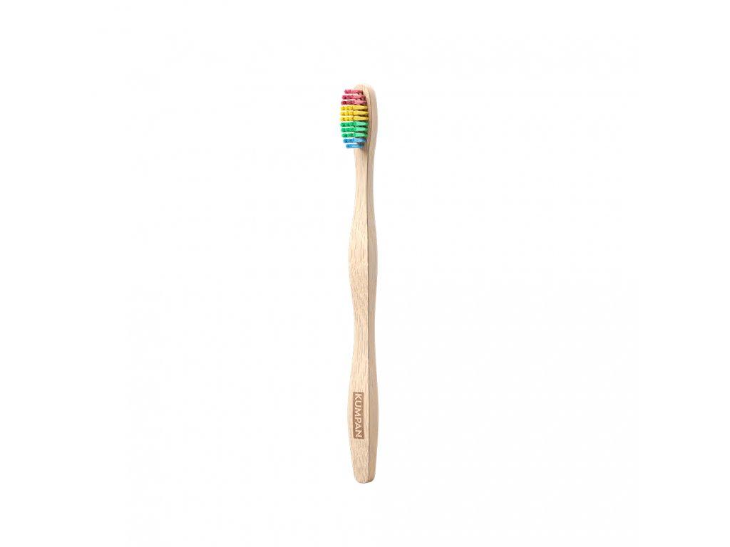 KUMPAN Bambusovy zubni kartacek duhovy 1