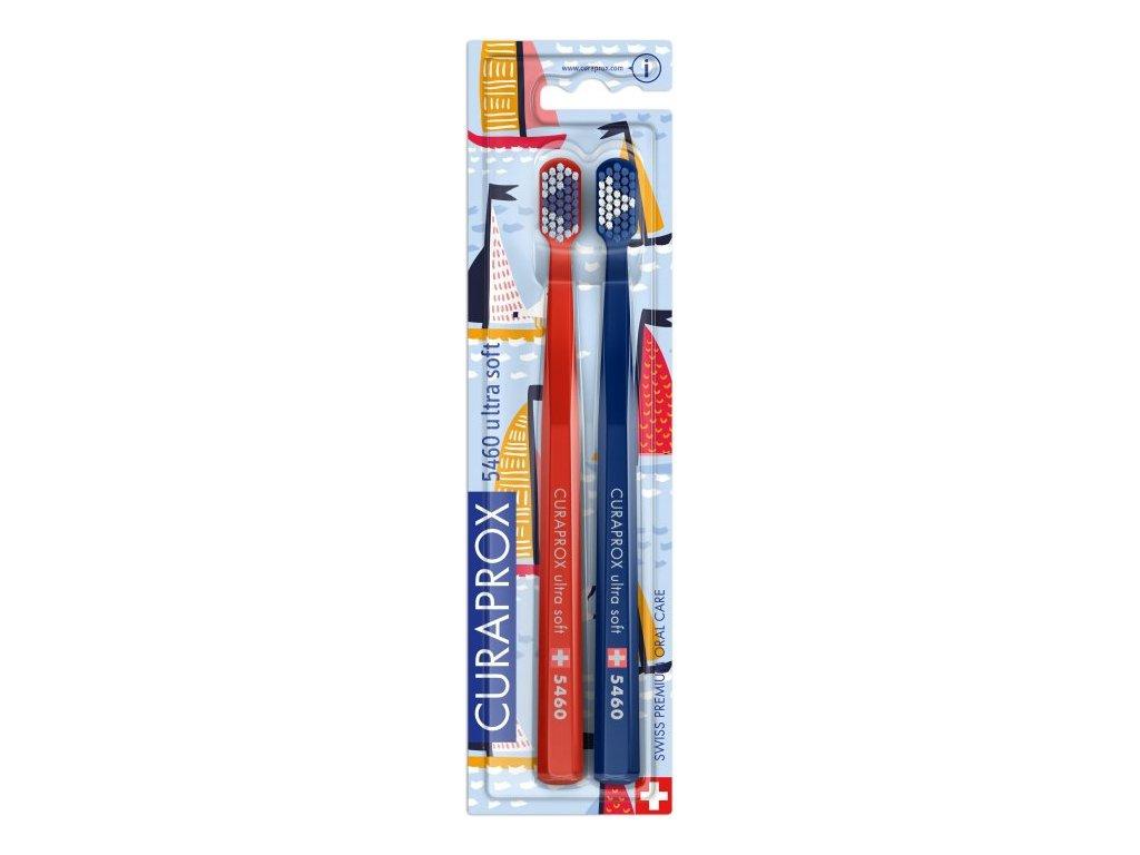Curaprox CS Ultra Soft 5460 Sailing edition 2 ks cervena modra