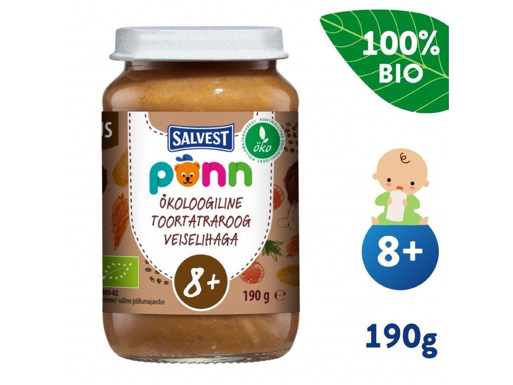 salvest ponn bio hovezi maso s pohankou a zeleninou 190 g 2