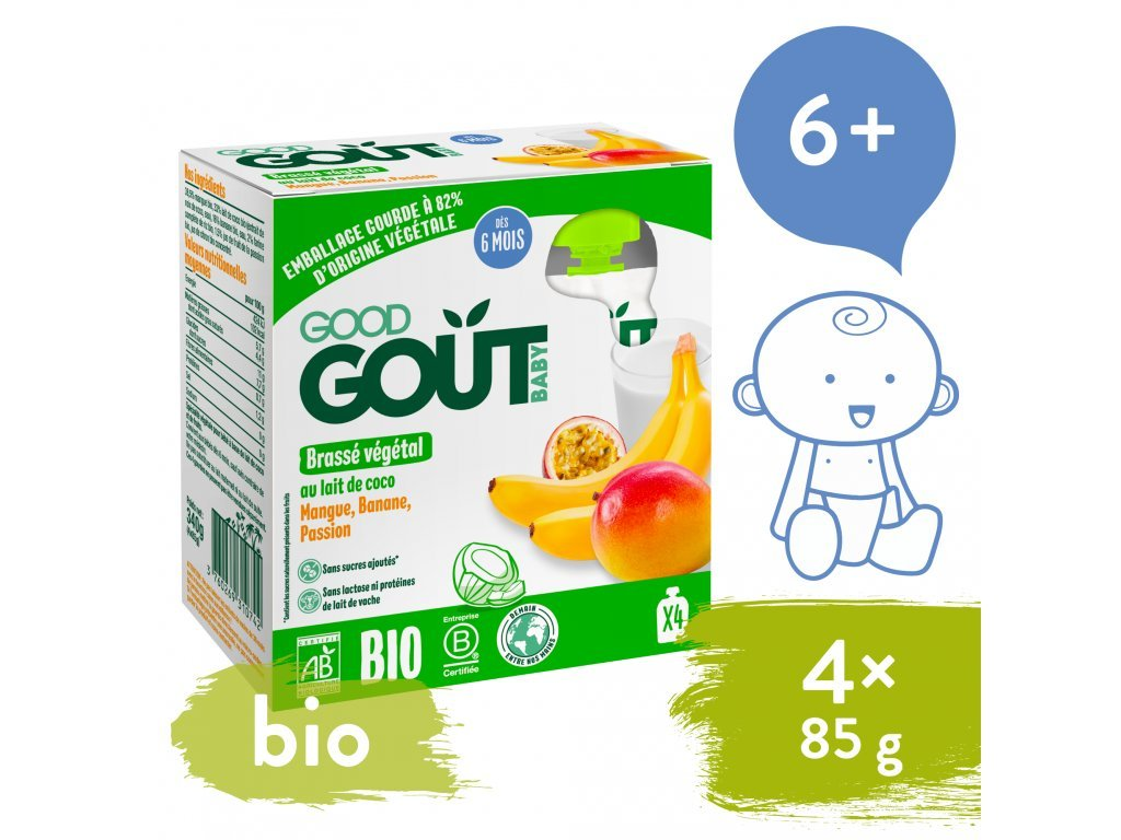 good gout bio kokosovy dezert s exotickym ovocem 4x85 g 1